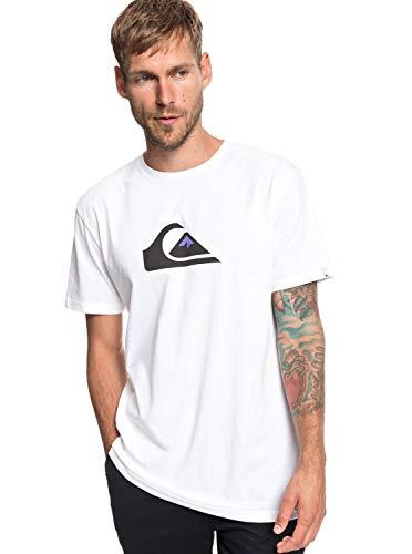Leichte Mens S/s T-shirt (Quiksilver M and W - T-Shirt for Men - T-Shirt - Männer - S - Weiss)