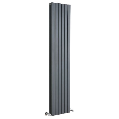 Milano Capri – Modern Black Vertical Column Double Panel Designer Radiator – 1600mm x 354mm