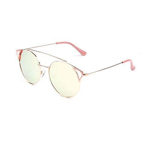 DX Europäische und amerikanische Mode Damen persönlichkeit Trend Bunte gläser polarisierten Schatten gläser (Farbe: Gold Pulver)