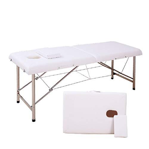 ZEDICN Stabil Professionell Spa Massage Tabellen Faltbar Salon Möbel PU Bett Dick Schönheit Massage Tabelle-Weiß-180 * 60 * 65Cm