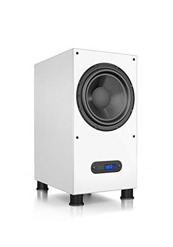 Nubert nuLine AW-600 Subwoofer | Lautsprecher für Bass und Effekte | Surround und Action auf hohem Niveau | Aktivsubwoofer Technik | LFE Box mit 240 Watt | Kompaktsubwoofer Weiß