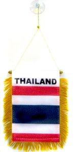 AZ FLAG Fanion Thaïlande 15x10cm - Mini Drapeau thaïlandais 10 x 15 cm spécial Voiture - Bannière