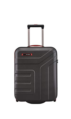 Travelite VECTOR - Trolley rigido e beauty case in 4 colori alla moda, 55 cm, 44 l, colore: nero