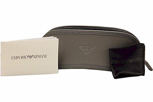 Emporio Armani die Hälfte Felge Sonnenbrillen in mattem Schwarz Grün EA4108 504271 60 matt schwarz - matt gun metall