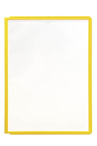 Durable 560604 Sichttafel Sherpa Panel A4, PP 5er Packung gelb -