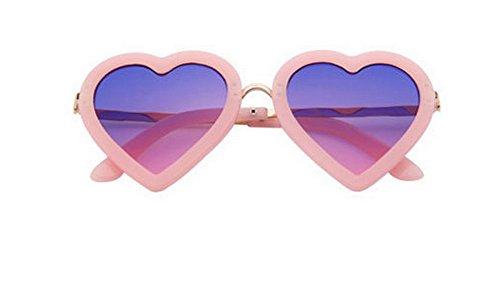 Cosanter Mode Nette Herz Kinder UV400 Sonnenbrillen Jungen Mädchen Kunststoff Rahmen Retro Sonnenbrille Brillen