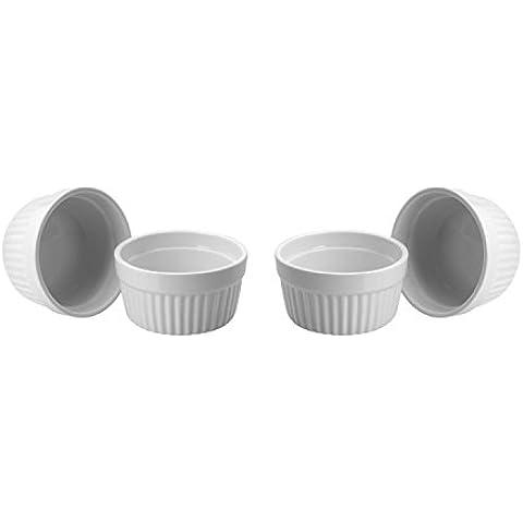 ToCi–Blanco Crema Brulee Moldes 9cm | cuencos para recipientes Fin | tarrina de cerámica | también para chocolate de Souffle, 12 Stück