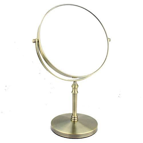 Kosmetikspiegel, Schminkspiegel, 360 Umdrehung Badezimmer Rasierspiegel doppelseitig rund Vergrößerungs Vanity Chrome Silver - Schwanenhals Vanity Licht