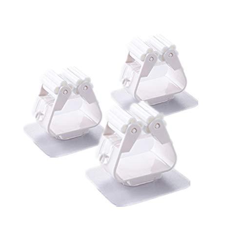 R faith 3Stück in Tik TOK kompatibel mit Tiktok frei von Punch Mop Klemme Starken tragenden, Saugnapf Aufbewahrung Wand Wandhalter Haken weiß