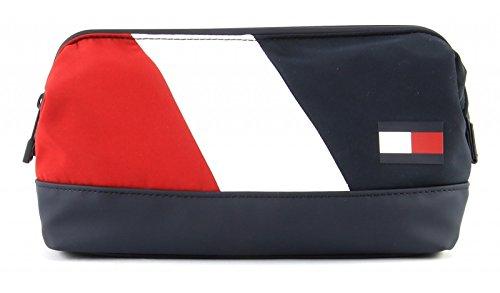 Tommy Hilfiger Speed Framed Uomo Washbag Blu Multicolore