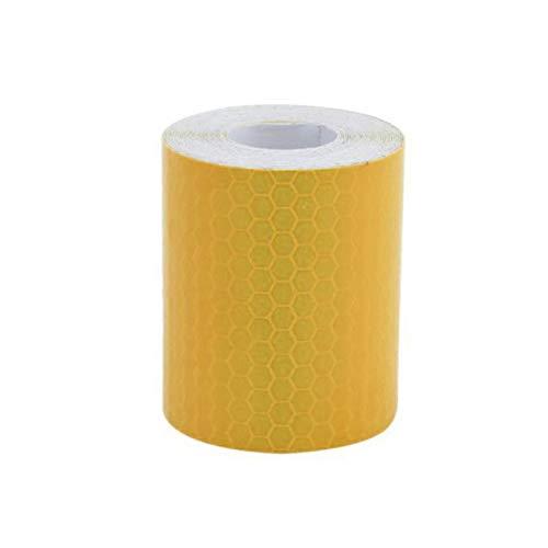 YUnnuopromi 1M x 5cm Reflektierende SicherheitsWarnung Auffälliity Tape Film Karosserie Aufkleber Golden Yellow