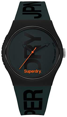 Superdry Reloj Analogico para Hombre de Cuarzo con Correa en Silicona SYG189NB