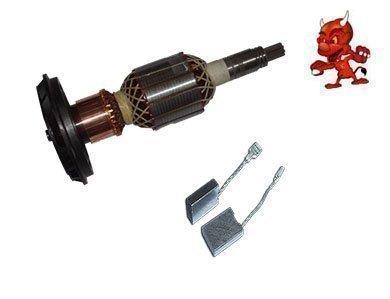 Preisvergleich Produktbild Anker Rotor Kollektor Läufer passend für Bosch GSH 11 E + 1 Satz Kohlebürsten