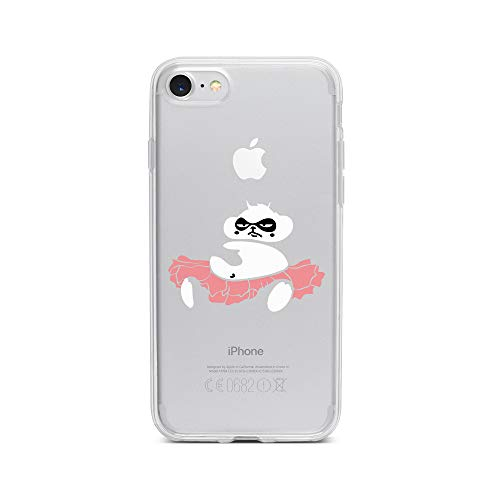 licaso iPhone 8 IP8 Handyhülle TPU mit Fat Panda Ballet Dancer Print Motiv - Transparent Cover Schutz Hülle Aufdruck Lustig Funny Druck -