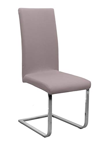 Stuhlhusse Jersey, elastische Stretch Husse Baumwolle Bi-Elastic, Farbe wählbar, Taupe