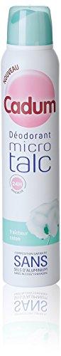 Cadum - Déodorant Femme Atomiseur Micro Talc Fraîcheur Coton Efficacité 24h - 200 ml
