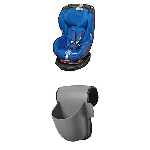Maxi-Cosi Rubi XP Kindersitz, mit optimalem Seitenaufprallschutz und höhenverstellbarer Kopfstütze, Gruppe 1 Autositz (ab 9 Monate bis ca. 4 Jahre, 9-18 kg), electric blue + Pocket Becherhalter, grau Electric Pocket