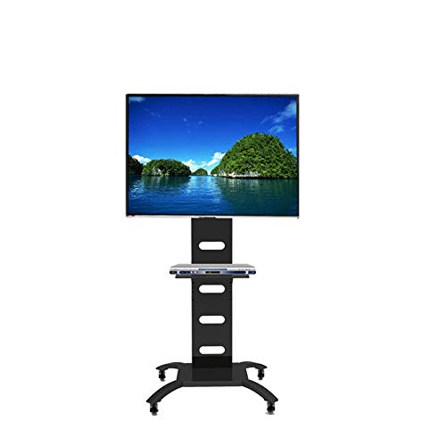 Exing TV Stand Mobile Cart, Portable LCD TV Floor Stand - Flat Screen Mount (Black, Universal LED LCD Flat Panel Plasma TV), Support Max 81.6 Kg Lcd-panel Cantilever Mount