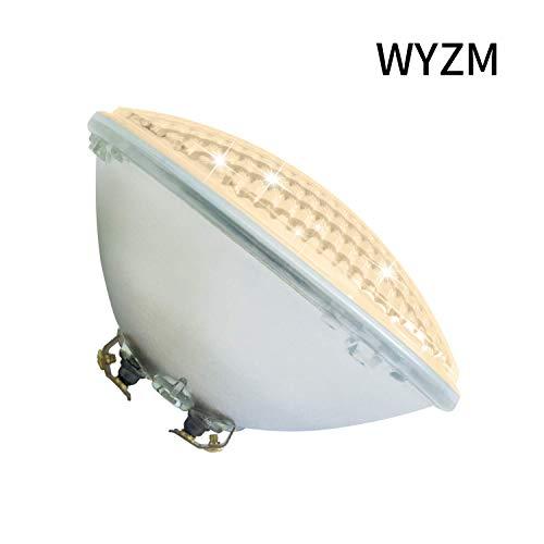 Luci per Piscina54W AC 12V,Lampada sostitutiva faro 300-500W,Par56 Bianco caldo Lampadina LED Sommergibile,Impermeabile IP68 Luci per piscina per Fontana Pond(Par56 54W-Warm White)