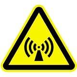Schild Warnzeichen Warnung vor elektromagnetischem Feld 30cm sl Alu