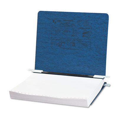 Pressboard Hanging Data Binder, 11 x 8-1/2 Unburst Sheets, Dark Blue, Sold as 1 Each