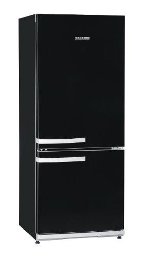 Kühlschrank schwarz von Severin Kühlgefrierkombination A++