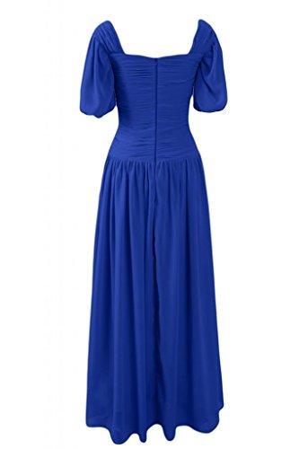 Sunvary Scollo quadrato in stile retrò, con scritta Mother of the Bride, per vestiti, misura Maxi Plus Gowns maniche corte da donna Royal Blue