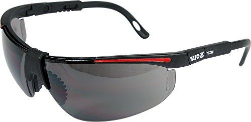 Arbeitsschutzbrille dunkel getönt , verstellbare Bügel , Schutzbrille, Sonnenbrille
