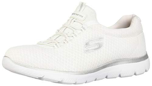 size 40 e7100 00948 Skechers 12980, Baskets Femme, Blanc (White Silver), 37 EU