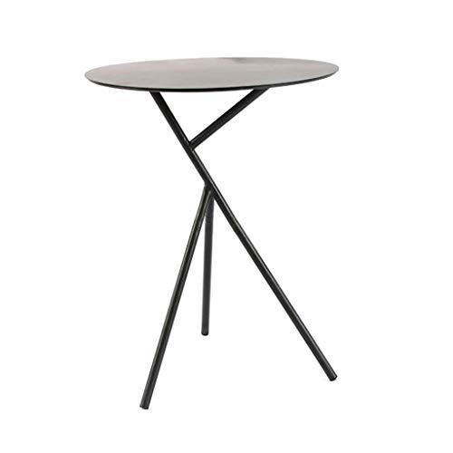 M-JH Table d'appoint, Petite Table d'appoint de Table d'appoint de Table d'extrémité en métal Moderne - Assemblage Facile , 45 * 56,5 cm (Couleur : Noir)