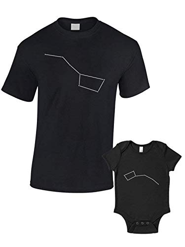 Big Dipper Little Dipper T-Shirts Baby Grow - Matching Set 2 shirts - Father