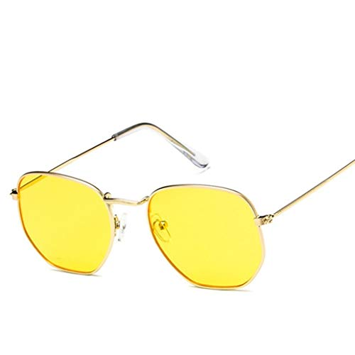 Modeerscheinung Sonnenbrille Frauen Metallrahmen Winddicht Anti-UV Unisex Vintage Brille Brille Verwendung zum Fahren Einkaufen Freizeit Sonnenbaden