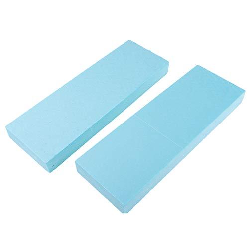 MagiDeal 2pcs Panneau de Mousse de Haute Densité PVC - 29.5x10x4 cm - Bleu
