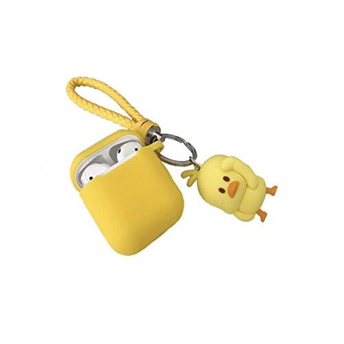 Shengshihuizhong AirPods-Schutzhülle, Cartoon-Silikon-Anti-Drop-Kopfhörer-Schutzhülle, Drahtlose Bluetooth-Kopfhörer-Aufbewahrungsbox Universal, Kleine gelbe Ente-Kopfhörer-Schutzhülle, Kopfhörer (Maßgeschneiderte Beats-kopfhörer)