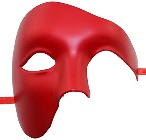 VAWAA Party Maske Halbes Gesicht Phantom Der Oper Maske Schöne Halloween Maske Halloween Maskerade Maske