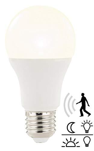 Luminea Sensor Lampe: LED-Lampe mit Radar-Bewegungs- und Lichtsensor, 12 W, E27, warmweiß (Sensorlampen) -