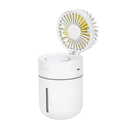 Lixada 2W Mini Luftbefeuchter Diffusor Fan Sprühnebel mit Nachtlicht Design unterstützt Farbwechsel/statische Farbe USB Powered Überhöhte Geschwindigkeit einstellbar Tragbar Usb-powered Gadgets
