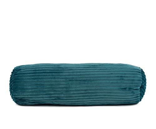 Gözze Kissenrolle in Cord Optik, 70 x 22 cm, Petrol, 40067-54-070022 - Grau Cord