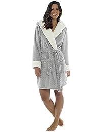 b5f02bc7f9 Wolf   Harte Women s Novelty Animal Bunny Embossed Plush Shimmer Fleece  Hooded Bath Robe