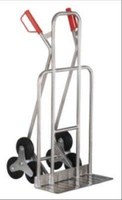 Preisvergleich Produktbild JRIP - Alu Industrie - Treppenkarre 200 kg, mit breiter Schaufel, mit Dreisternräder (Vollgummi),