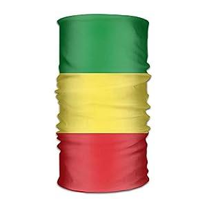 Zzxi Ethiopian Flag Unisex Outdoor Sport Scarf Headbands Bandana Mask Neck Gaiter Head Wrap Sweatband Headwear