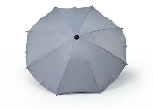 ACE Universal Sonnenschirm Regenschirm für Kinderwagen und Sport Buggy, Babywagen Schirm mit Universal Halterung, UV-Schutz50+ Sonnensegel Sonnenschutz (Grau)