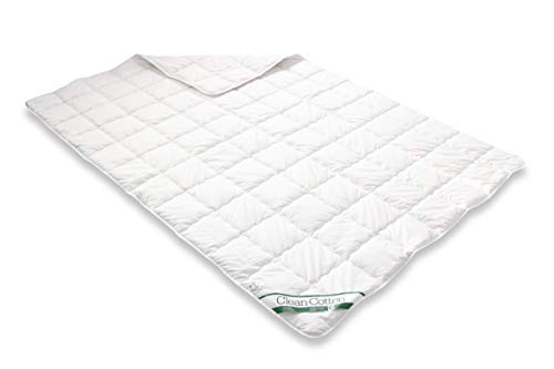 49 Bettcomfort Steppbett Clean Cotton leicht, 155 x 220 cm, weiß ()