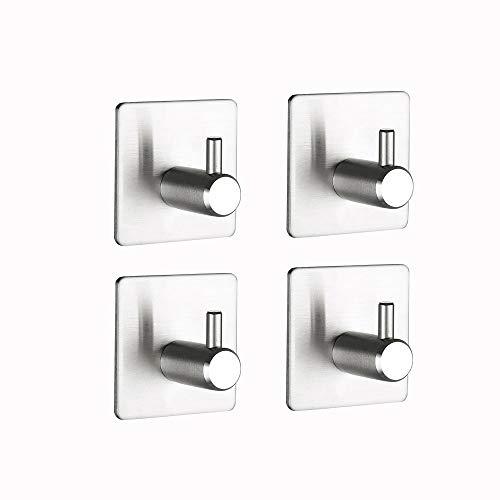 Gancio adesivo impermeabile in acciaio inox, appendini portasciugamani per cucina e bagno, da 4 pezzi