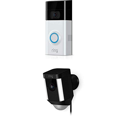 Ring Video Doorbell 2 + Spotlight Cam Wired (Black)