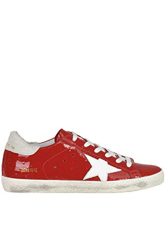 a66f6f57a368b GOLDEN GOOSE DELUXE BRAND Superstar Patent-Leather Sneakers Woman Red 37 IT