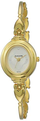 Sonata Analog Champagne Dial Women's Watch -NK8092YM03