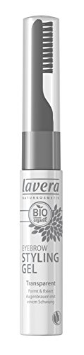 lavera Style und Care Eyebrow Gel ∙ Farbe transparent ∙ Augenbrauen & Wimpern Gel ∙ Natural & innovative Make up ✔ Bio Pflanzenwirkstoffe ✔ Naturkosmetik ✔ Augen Kosmetik 1er Pack 1x 9 ml