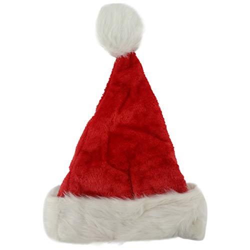 Damen Luxus Kunst Pelz Weihnachtsmütze Nikolausmütze Plüsch Rand Ca 12cm Santa Mütze Nikolaus