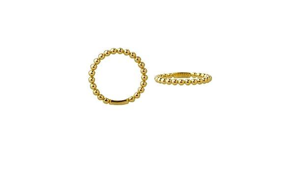 Goldring Ring Damenring Fingerring Kügelchen Breite 2,2mm 585 Gold Weißgold